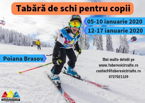 Tabara de schi pentru copii