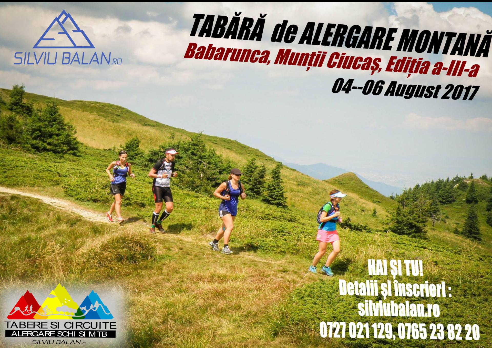 Raport: Tabără alergare montană Ciucaș 2017